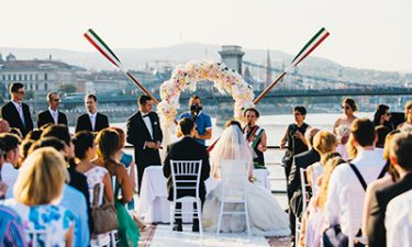 Danube river cruise Budapest, boat hire for wedding